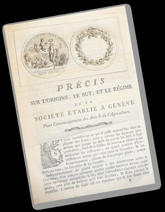 Document précédent les Mémoires de la Société établie à Genève pour l'encouragement des arts et de l'agriculture, 1778-1780