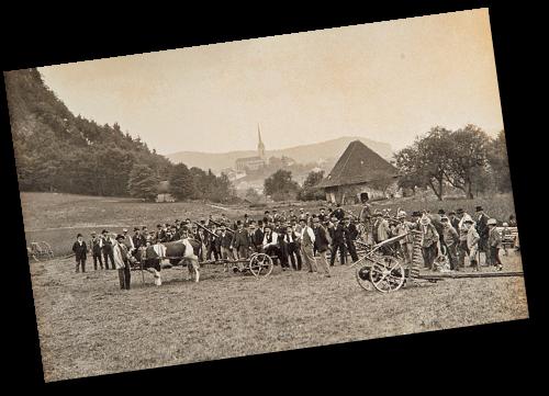 Démonstration de machines à Burgdorf à la fin du 19e siècle - © Firmenarchiv Aebi&Co AG