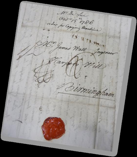 Lettre de Jean-André Deluc à James Watt (15.10.1786) - Birmingham Central Library - Archives of Soho