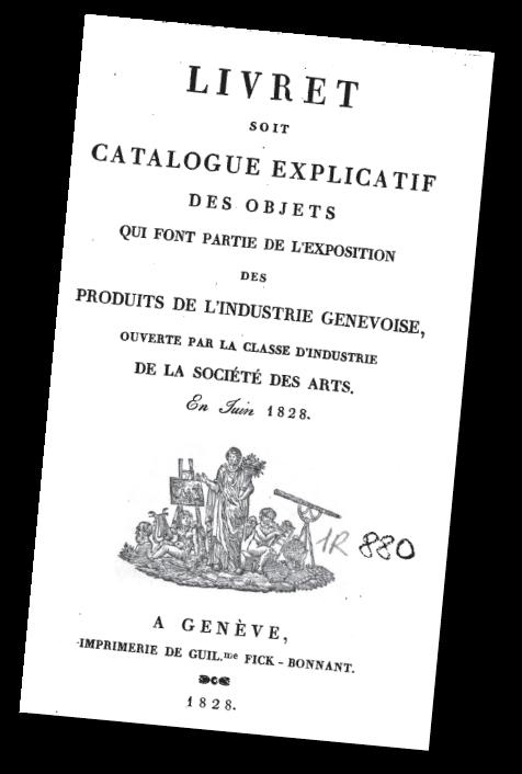 Catalogue de la première exposition industrielle à Genève - 1828