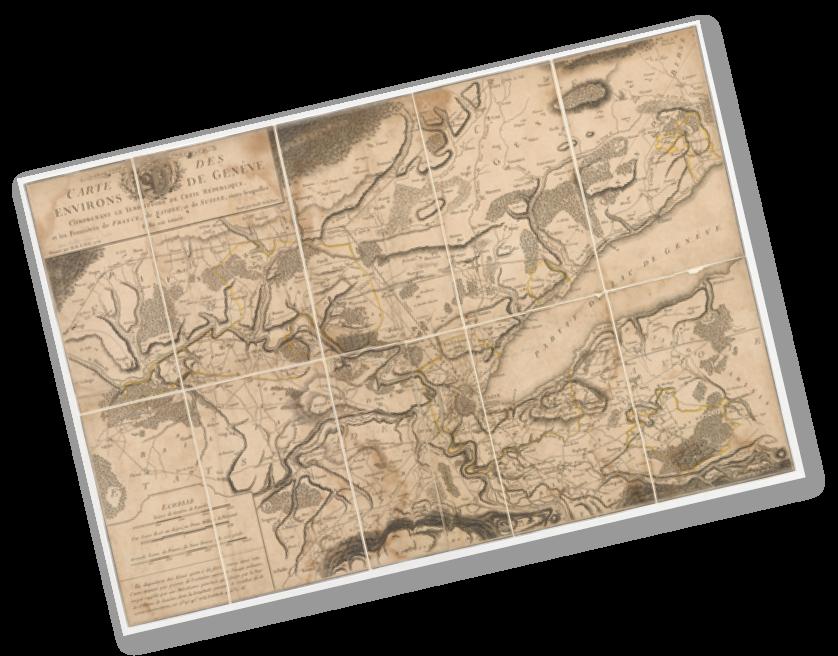 Archives de l'Etat de Genève - Carte des environs de Genève, Mallet, 1776