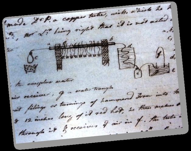 Birmingham Central Library - Archives of Soho - Schéma dans une lettre de James Watt à Jean André De Luc, 1784